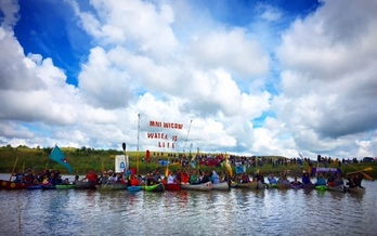Colorado groups joined a national protest against the Dakota Access Pipeline on Tuesday. (350.org)