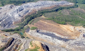 Using money from the Abandoned Mining Lands Fund to spur economic development in Appalachia has overwhelming support in the region, according to a new poll. (Vivian Stockman, flyover credit SouthWings)