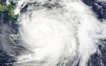 A leading climate expert says Hurricane Matthew was fueled by climate change. (NASA.gov)