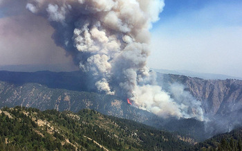 The Pioneer Fire in Boise National Forest has been burning since July. (U.S. Department of Agriculture)