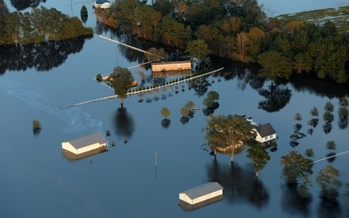 Much of the eastern part of North Carolina remains underwater, and people struggle to recover and compete with the election for attention. (Fema.gov)