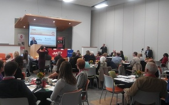Leaders from across the state gather in Lexington to explore solutions for making neighborhoods more age-friendly so older Kentuckians can remain in their homes. (Greg Stotelmyer)