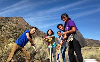 Rio Grande Del Norte National Monument is getting some special attention this week from teens and veterans working together on habitat improvements. (Jim O'Donnell)