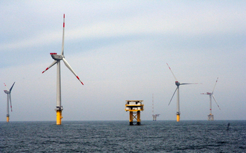 Offshore wind could someday supply New York with 39 gigawatts of power. One gigawatt is the equivalent of 1,000 megawatts. (U.S Dept. of Energy/Wikimedia Commons)<br />