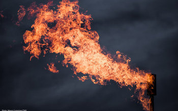 The Bureau of Land Management has finalized a rule to cut down on methane gas wasted at oil and gas well sites through processes such as flaring and venting. (Mason Cummings/The Wilderness Society)