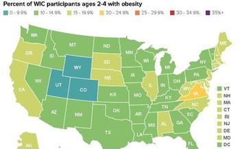 Virginia has one of the highest obesity rates for lower-income toddlers (ages 2 to 4) in the country. (The Trust for America's Health and Robert Wood Johnson Foundation)