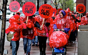 Low-wage workers are planning strikes, protests and civil disobedience actions on Tuesday. (Bob Simpson/Flickr)