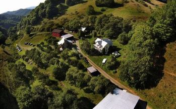 A aerial view of Old Orchard Creek Farm in Ashe County is one example of land protected by land conservancy. (Old Orchard Creek)