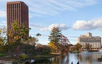 A new report says state funding cuts at Massachusetts' state colleges and universities mean students are picking up a bigger portion of the tab. (UMASS)