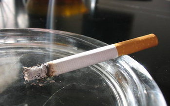 A new report ranks the Bay State at 36th in the nation, near the bottom among states, for the amount it spends on smoking prevention. (anderson wasser/blogspot)