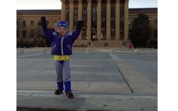 Matt Brown was born with heart defects, but his family says medical research has meant he can climb to the top of the steps featured in the movie