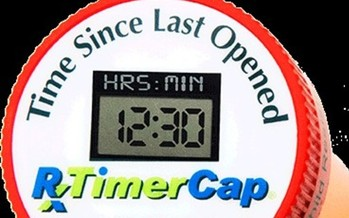 An LCD screen on the TimerCap displays how much time has elapsed since the last dose of medication. (TimerCap)