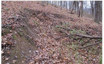Critics of the Atlantic Coast Pipeline say its path is dangerously prone to landslides. (Malcolm Cameron/the Dominion Pipeline Monitoring Coalition)