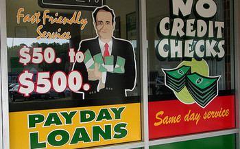 Nebraska lawmakers will consider a measure that caps interest rates on payday loans at 36 percent.<br />(Taber Andrew Bain/Flickr)