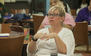 Virginia teachers such as Carmen Sitton say low pay can get in the way of doing a job they love. (Lisa Sale)