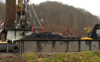 New testing is finding unpredictable levels of mildly radioactive materials in Marcellus drill cuttings. (Bill Hughes)