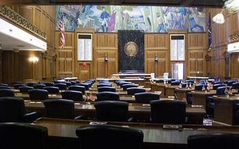 Indiana state lawmakers will consider a bill this year to criminalize abortion. (Charles Edward/Wikimedia Commons)