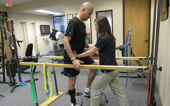 Repealing the ACA could result in eliminating benefits such as rehabilitation therapy. (Roger Mommaerts/Flickr)