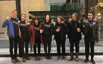 Seven students arrested in Chicago on Tuesday after a protest have been released from custody. (Resist Trump Tuesdays)