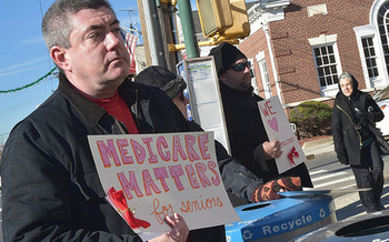 A new national AARP campaign is fighting any proposal to turn Medicare into a voucher program. <br />(Thomas Altfather Good/Flickr)