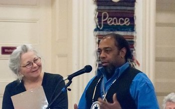 A Building a Culture of Peace forum in Concord, N.H., this week helped to raise funds to fight the Dakota Access Pipeline. (E. Zulaski)