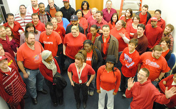 Folks around Ohio will wear red today to support heart-disease prevention. (Douglas Muth/Flickr)