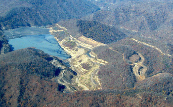 Stream-protection rules have long been an issue for environmentalists and surface mines. (Vivian Stockman/flyover by Southwings)