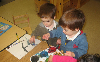 Child-care workers bear the responsibility of both looking after and helping to educate children. (Isaac and Aaron Goldberg/Flickr)