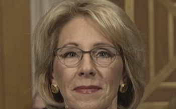 One Michigan political observer points out that Betsy DeVos won't be the only one shaping education policy. (CSPAN/Wikimedia Commons)