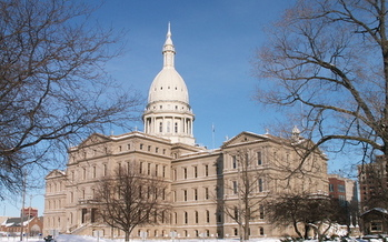 A new poll shows little public support for a plan to repeal the Michigan state income tax. (Phillip Hoffmeister/Wikimedia Commons)