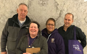 Parent caregivers testified in support of respite-care legislation in Olympia last week. (SEIU 775)