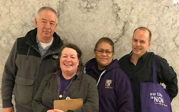 Parent caregivers testified in support of respite-care legislation in Olympia last week. (SEIU 775)