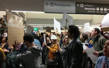 They have protested the Muslim ban in airports and now, grassroots groups say the time has come for Congress to investigate President Donald Trump's ties to Russia. (Peace Action)