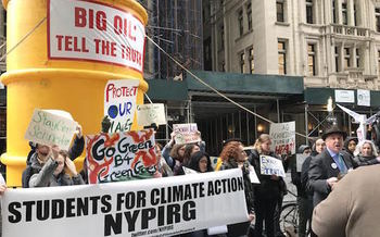 Activists say holding the fossil-fuel industry accountable is critical to combating climate change. (NYPIRG)
