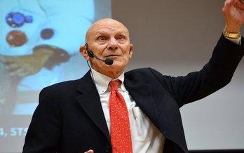 Command Module Pilot of the 1972 Apollo 16 mission, Ken Mattingly, speaks at