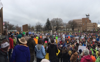Thousands of Idahoans rallied in Boise on Saturday to support public lands. (Nathan Field)