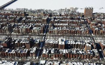 The high cost of housing is a driving factor in the growing problem of homeless families in Massachusetts, according to a new report. (Eganjm18/Wikimedia)
