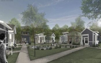 An artist's rendering of the micro home village planned as temporary housing in south Nashville. (Open Table Nashville)