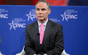 Environmental Protection Agency administrator Scott Pruitt is expressing his doubts about the role humans play in exacerbating climate change. (Gage Skidmore/Wikimedia)