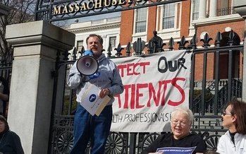 Brian Rosman with Health Care For All estimates at least a half-million Bay State residents would see their health coverage end, or be greatly reduced, under the GOP's replacement plan. (Health Care For All)