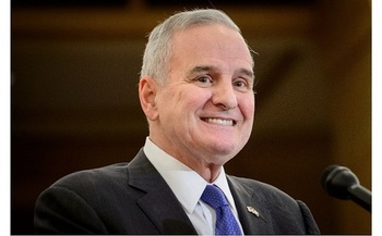 Under Gov. Mark Dayton, Minnesota raised taxes on high-income households - taking an approach opposite to what many West Virginia lawmakers favor. But Minnesota is growing much faster than the national average. (Gov. Mark Dayton's office)