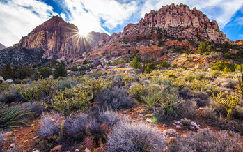 A proposed new bill would shield lands surrounding National Conservation Areas, such as Red Rock Canyon, from development. (Battle Born Progress)