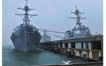 Sea-level rise linked in part to climate change is forcing the Navy to raise the docks in Norfolk. (U.S.Navy)