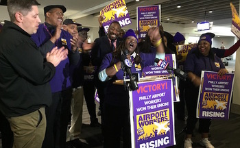 Local 32BJ SEIU now represents nearly 1,400 workers at Philadelphia International Airport. (32BJ SEIU)