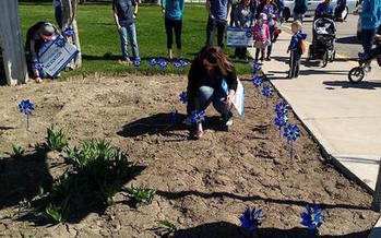 The blue pinwheel is the symbol of National Child Abuse Prevention Month. (Bannock Youth Foundation)