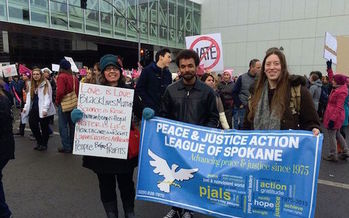 The Peace and Justice Action League, which is helping organize Spokane's Tax March on Saturday, was at the city's Women's March in January. (Liz Moore/PJAL of Spokane)
