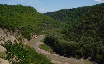 The Northern Access Pipeline route would have crossed the Cattaraugus Creek Basin Aquifer system. (Antepenultimate/Wikimedia Commons)