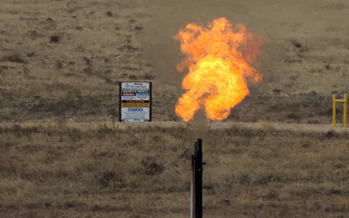 Gas flares are a result of leaking natural gas as companies mine for fossil fuels. (WildEarth Guardians)