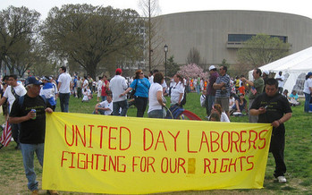 Romeo Sosa of the organization VOZ says day laborers are misunderstood by the community. (futureatlas.com/Flickr)