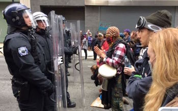 More than 200 people were arrested during Inauguration Day protests in Washington. (VOA/Wikimedia Commons)